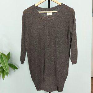 "Aritzia Wilfred ""Balzac"" Silk Blend Sweater in Charcoal"